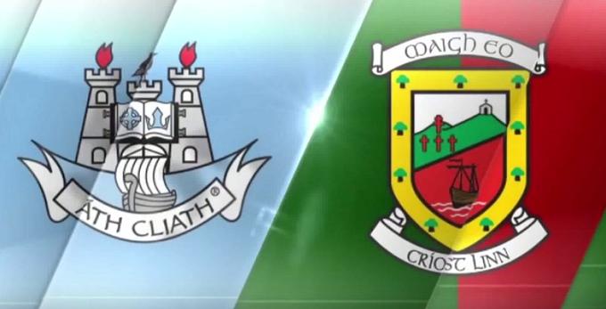 Dublin vs Mayo crests